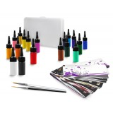 Brushpainting Nailartcolours / Acrylicolours Starter-Set 22-pcs. / Special-Box Large