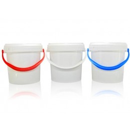 Empty Plastic bucket with lever lid