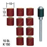 Steel Cylinder Mandrel with 10 Abrasive Heads / Schleifzylinder
