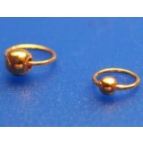 Nail Piercing Gold - 24 carat hard gold-plated - Sterling Silver