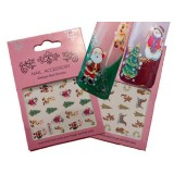 Nail Art Christmas Stickers NOSTALGIA
