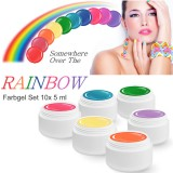 OVER THE RAINBOW color gel set 10 x 5 ml