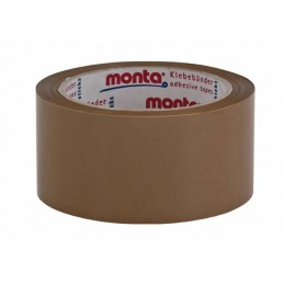 Adhesive tape 50mmx66m 35my brown MONTA 315 natural rubber