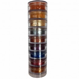Chrome and color pigment tower 9 x 1 g