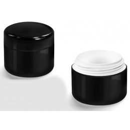 Gel containers empty BLACK 3-piece- 5 ml