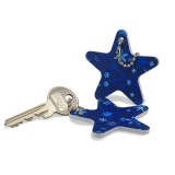 "Key pendant star file ""christmas star"" / Sternfeile ""Weihnachtss"