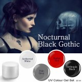 Nocturnal Black Gothic – UV color gel set 4 x 5 ml